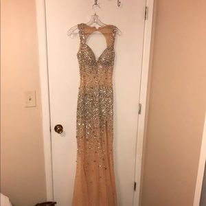 Dresses & Skirts - Gold/Silver Prom Dress